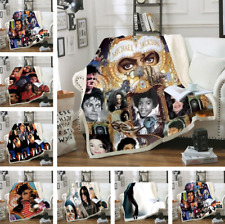 Michael Jackson 3d printed Sherpa Blanket Sofa Couch Cover Throw Blanket