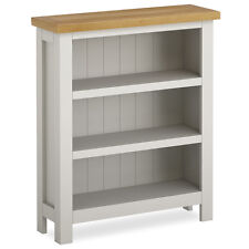 Farrow Painted Small Bookcase / Narrow Grey Painted Bookshelf / Shelving / Oak