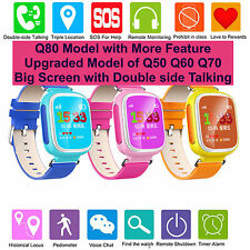KIDS GPS WATCH SOS CALL TRACK SMART WATCH Q80 UPGRADED 2016 MORE FEATUR  BE-0955