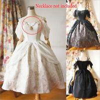 Lolita Woman Medieval Vintage Off Shoulder Big Swing Skirt Dress Cosplay Costume