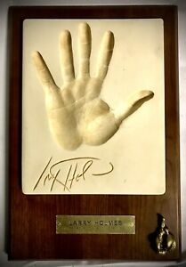Boxing's Heavyweight World Champion (78-85)~Larry Holmes~Hand Print Plaque VG+