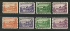 Norfolk 1947 Mi. # 1 x,y - 4 x,y white & yellowish paper Mint Never H. & Hinged