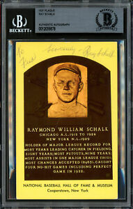 "Ray Schalk Autographed HOF Plaque Postcard White Sox ""To Fred"" Beckett 12059878"