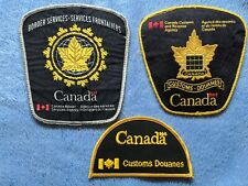 3 Different Decommissioned Canada Customs / CBSA Shoulder Patches