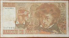 Billet 10 francs Hector BERLIOZ 4 - 3 - 1976 FRANCE C.286