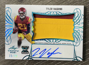 2021 Leaf Trinity Tyler Vaughns Rookie Patch Auto RPA /75 SP Steelers