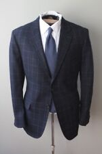 IN A BOX Band of Outsiders Navy Window Pane Plaid Check Heavy Wool Flannel Suit