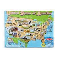 Melissa & Doug USA Map Wooden Jigsaw Puzzle