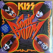 Kiss Sonic Boom Vinyl Record BLUE  UK Sealed cover bend torn shrink not perfect