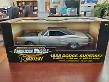 1969 Dodge Superbee Six Pack 10 Fastest 1:18 American Muscle ERTL DieCast NOS