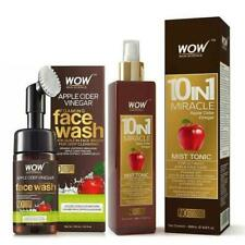 2 Set + WOW Skin Science Apple Cider Vinegar Face Wash Brush and Mist Tonic Kit