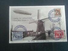 Nederland 5e luchtvaartcongres met luchtschip ZEPPELIN van Den haag - Breslau'30