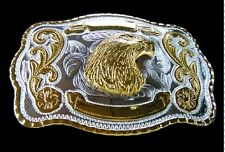 Belt Buckle Golden Eagles Cowboy Cowgirl American Western Boucle de Ceintures
