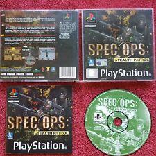 SPEC OPS STEALTH PATROL ORIGINAL BLACK LABEL  SONY PLAYSTATION PSONE PS1 PS2 PAL