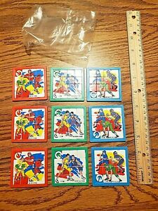 LARGE LOT of 9 Sports Themed Party Favors Sliding Puzzles NOS Baseball Football