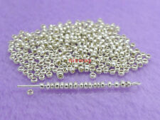 1000 Pcs Silver Color Cezch Glass Spacer Beads 2mm