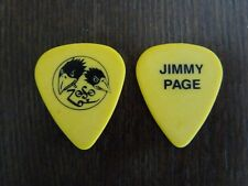 The Black Crowes Jimmy Page Yellow Signature Tour Concert Issued Guitar Pick