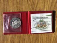 CONFEZIONE MONETA HAITI 50 GOURDES 1974 OLIMPIADI ESTIVE 16,75 gr ARGENTO 925