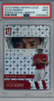 2019 UNPARALLELED ROOKIE FOCUS GROOVE PSA 9 MINT CARD #KM KYLER MURRAY RC ROOKIE