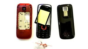 Full Housing Body Cover Casing Faceplate Fascia For Nokia 5130 N5130 black red