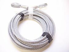 "5/16"" x 50 ft Galvanized Wire Rope Cable with Thimble Loops on Both Ends"