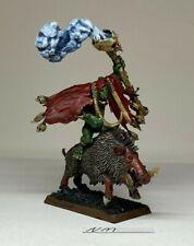 Warhammer Orcs and Goblins - Orruk Weirdnob Shaman on a Boar