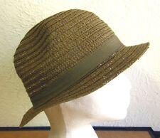 VINTAGE SUN HAT straw w/ bow 1980s gardening cap Trilby textured