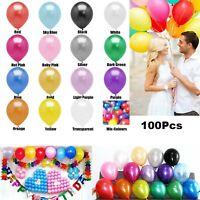 "Lot 10"" Latex Pearl Helium Balloons Balloon Party Air Wedding Birthday Decor Ya"