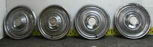 "OEM GM Set of 4 15"" Hub Caps Wheel Covers 3042 03968761 1974 Chevelle... (1221)"