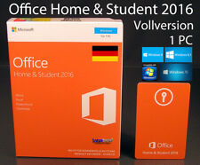 Microsoft Office Home and Student 2016 Vollversion Box 1 PC 32/64-Bit DE OVP NEU