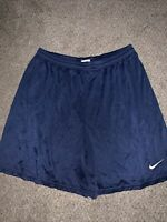 Vintage Nike Shorts Swoosh Navy Mesh Athletic Running Basketball Men's Large Vtg