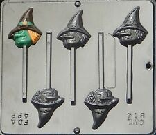 Witch Face Lollipop Chocolate Candy Mold Halloween  914 NEW