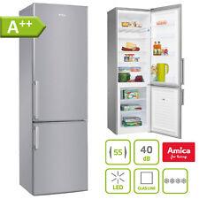A++ Stand Kühl Gefrierkombination 182 cm Edelstahl Kühlschrank Kombi freistehend