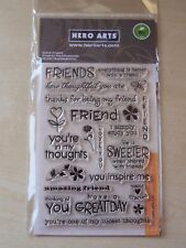 HERO ARTS -CLEAR STAMPS - FRIENDS  - 22 STAMPS