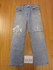 used Levi 501 grunge feathered jean tag 38x34 Meas 36x33.5 22694F