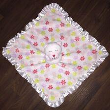 Carter's Blanket Teddybär Weiß Schmusetuch Schnuffel UK Kuscheltuch White Blumen