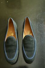 Stubbs Wootton Size 9 Navy Blue Suede with Royal Blue Piping Loafers Women