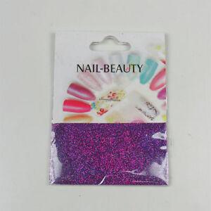 *** (0,68€/1g) 1,5 g Glitter Glitzer Nailglitter - Lila Dunkel Edel