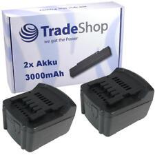2x Akku 14,4V 3000mAh Li-Ion ersetzt Metabo 6.25454 6.25467