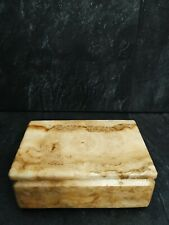 More details for beautiful vintage oriental marble heavy jewellery box 6