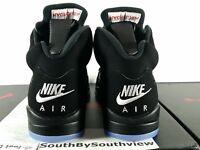Nike Air Jordan 5 Black Metallic OG Size 8.5 w/ Receipt V Silver 2016 845035-003