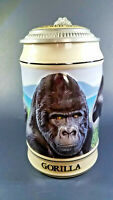 Budweiser Endangered Species Gorilla Collectible Ceramic Beer Stein 12468