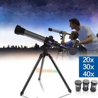 40X Refractor Astronomical Telescope w/ Tripod Children Educational Xmas Gift