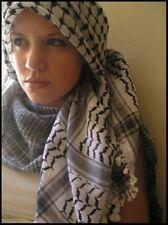 Black & White Palestinian Scarf Arab Shemagh FreePost