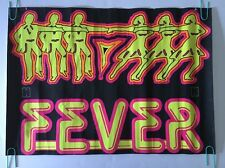 Vintage Black Light Poster Fever Dancing Disco Man & Woman 1970's Pin-up Dayglow