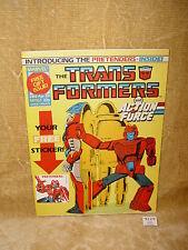 ORIGINAL VINTAGE MARVEL UK TRANSFORMERS COMIC #162 W/ FREE GIFT 23 APRIL 1988