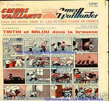 Tintin et Milou brousse_*Congo_Coeurs/Ames Vaillants 2 Août 1942_BD Sylvette ...