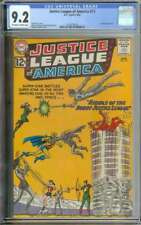 JUSTICE LEAGUE OF AMERICA #13 CGC 9.2 OW/WH PAGES // SPEEDY APPEARANCE