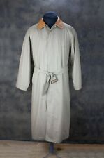 Vintage Gant Slip On Beige Men's Cotton Button-Front Long Trench Coat Size S
