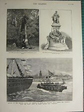1883 VICTORIAN PRINT ~ STEAM TUG PRINCESS LOUISE MARQUIS OF LORNE AT LIVERPOOL